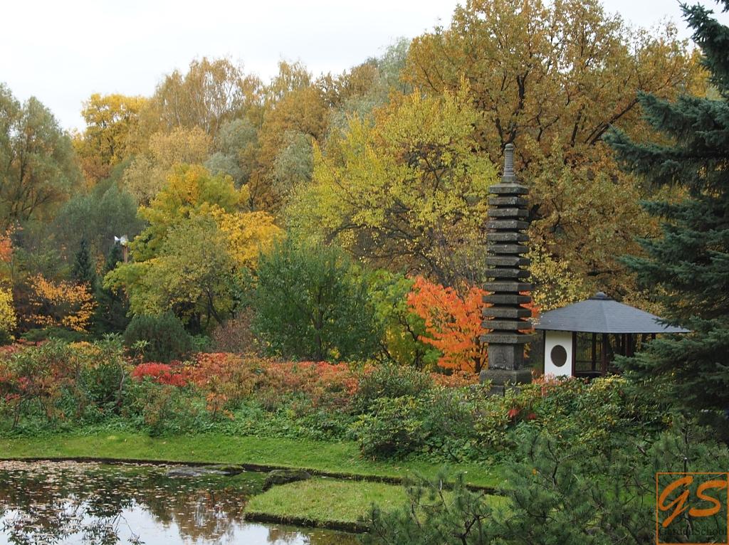 Осень в Японском саду ГБС