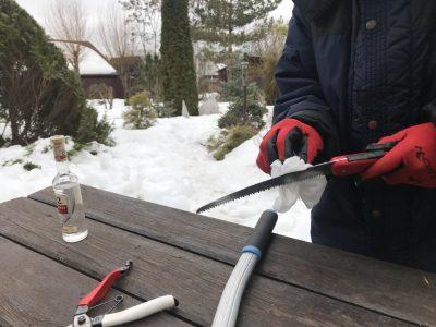 Обработка инструмента перед обрезкой